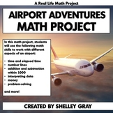 Airport Adventures: Real Life Math | Elapsed Time Data Mon