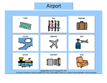 Airport Bingo! Multiple Boards [speech therapy and autism]