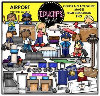 Airport Clip Art Bundle {Educlips Clipart}