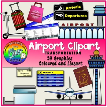 Airport Clipart (Transportation, Travel, Holiday)