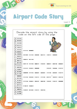 Airport Code Story (Visual Perception Worksheets)