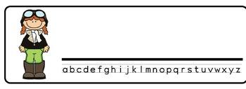 Airport Desk Nameplates (Set of Four)