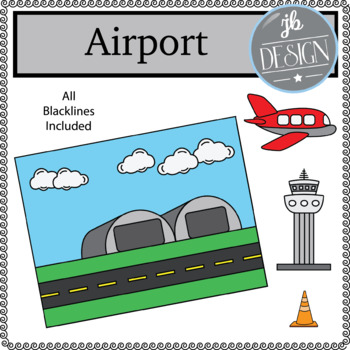 Airport Scene (JB Design Clip Art for Personal or Commercial Use)
