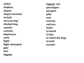 Airport Slapjack Game Cards / Flashcards - For Any Language