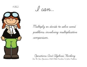 Airport Theme 4th grade math Common Core Posters fourth Grade Standards