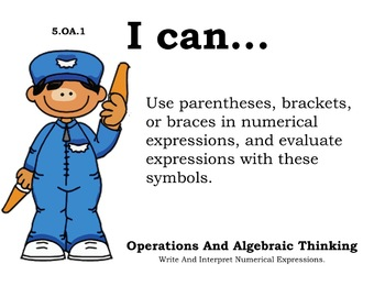 Airport Theme 5th grade math Common Core Posters Fifth Grade Standards