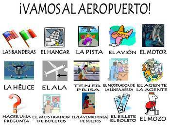 Airport Vocabulary Activities & Games Unit in Spanish (El Aeropuerto)