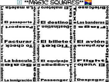 Airport Vocabulary Activities & Games Unit in Spanish (El Aeropuerto)