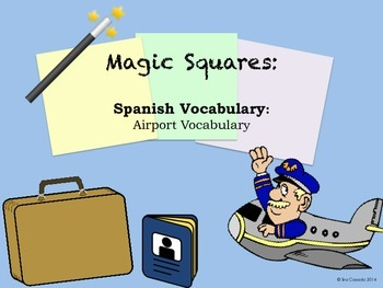 Airport Vocabulary (Spanish) Puzzle Activity