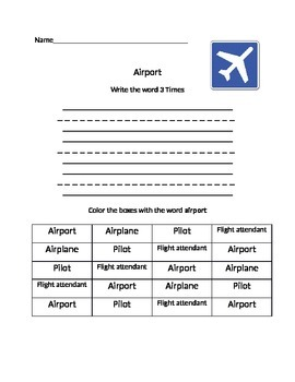 Airport Word Work