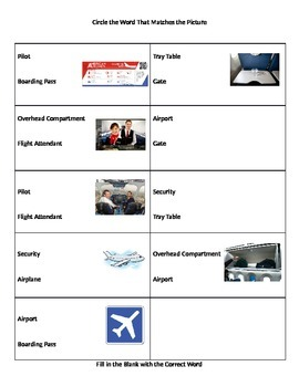 Airport Words Comprehension