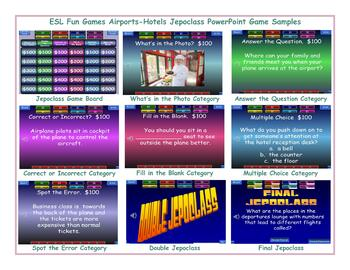 Airports-Hotels Jeopardy PowerPoint Game Slideshow