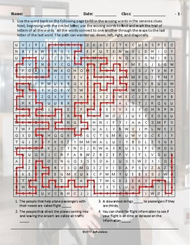 Airports-Hotels Word Maze