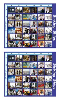 Airports and Hotels Legal Size Photo Battleship Game