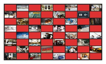 Airports and Hotels Legal Size Photo Checkerboard Game
