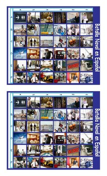 Airports and Hotels Spanish Legal Size Photo Battleship Game