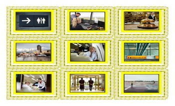Airports and Hotels Spanish Legal Size Photo Card Game