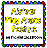Aistear Play Areas - Classroom Display Posters - English and Gaeilge - EYFS