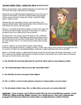 Akbar and Suleiman Report Card (project based learning activity)