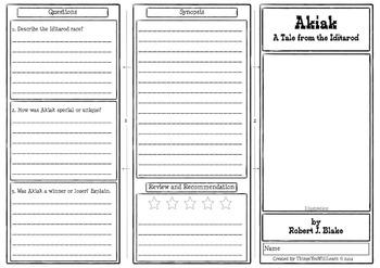 Akiak Comprehension Foldable