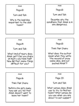 Akiak Interactive Read Aloud Sticky Note Questions