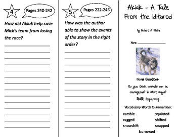 Akiak Trifold - Imagine It 2nd Grade Unit 5 Week 4