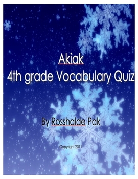 Akiak Vocabulary Quiz