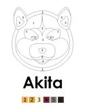 Akita coloring page