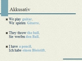 Akkusativ: Teaching the Accusative Case