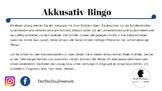 Akkusativ-Übung mit Bingo!