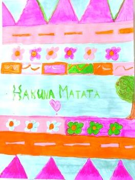 Akuna Matata Poster Fun History Lesson and Art Project Activity Bulletin Board