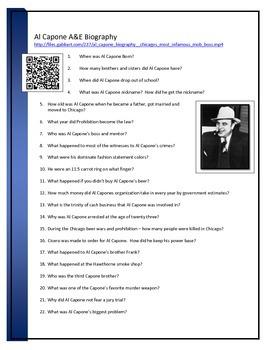 Al Capone - BYOD Assignment -QR code link - A&E video questions