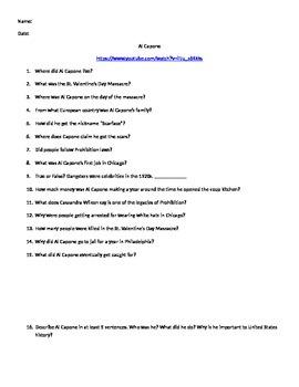 Al Capone Discussion Questions