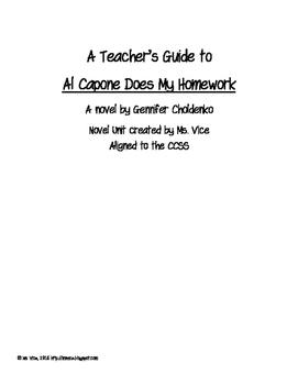 Al Capone Does My Homework Teacher Guide