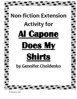 Al Capone Does My Shirts Non-fiction Extension Activity