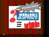 Al Capone Does My Shirts Jeopardy Game