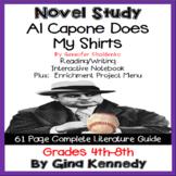 Al Capone Does My Shirts Novel Study + Enrichment Project Menu; Digital Option