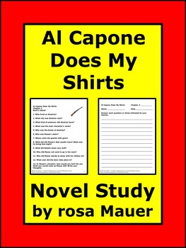 Al Capone Does My Shirts Book Unit