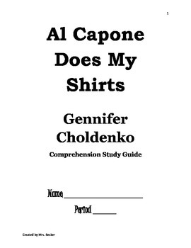 Al Capone Does My Shirts - Reading Comprehension Study Guide