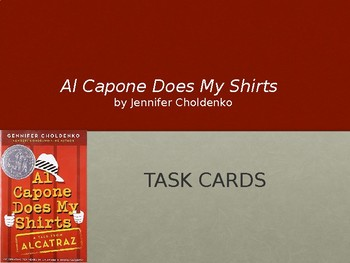Al Capone Does My Shirts: Task Cards