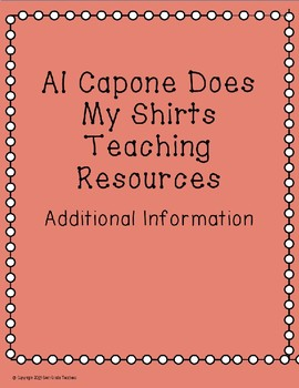 Al Capone Does My Shirts Teaching Resources Bundle
