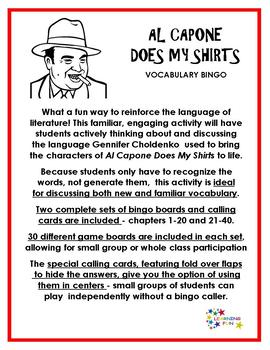 Al Capone Does My Shirts Vocabulary Bingo