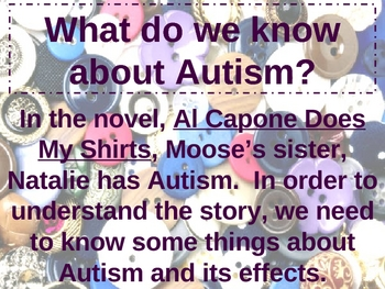Al Capone Does My Shirts novel Introduction to Autism powerpoint