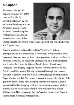 Al Capone Handout