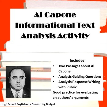 Al Capone Informational Text Analysis Activity