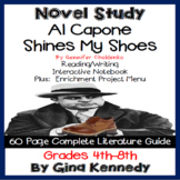 Al Capone Shines My Shoes Novel Study + Enrichment Project Menu