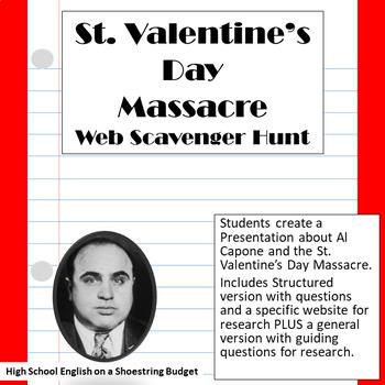 Al Capone and the St. Valentine's Day Massacre Web Scavenger Hunt Activity