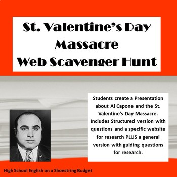 Al Capone and the St. Valentine's Day Massacre Web Scavenger Hunt Activity