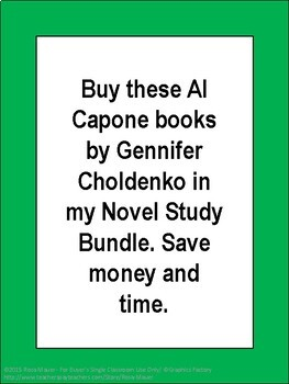Al Capone books by Gennifer Choldenko Novel Study Bundle