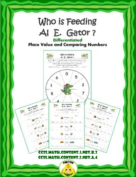 Al E. Gator Compare Numbers: Place Value